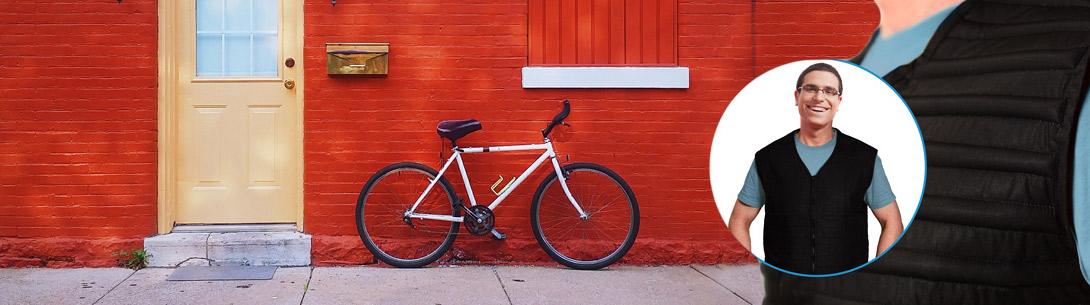 Trage beim Rad fahren unsere HPX Kühlweste
