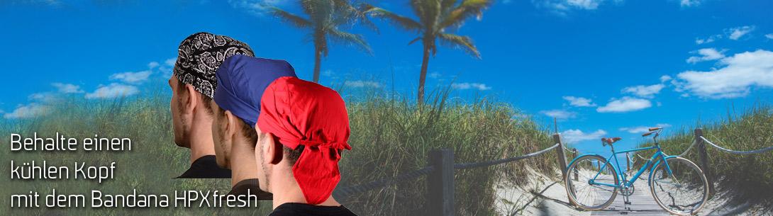 Unser kühlendes HPX Bandana für den Strand