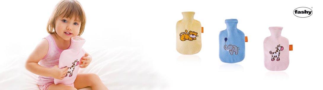 Kinderwärmflasche mit süßer Applikation für d