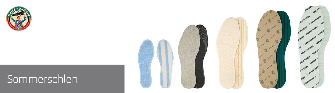 Einlegesohlen für den Schuh im Sommer