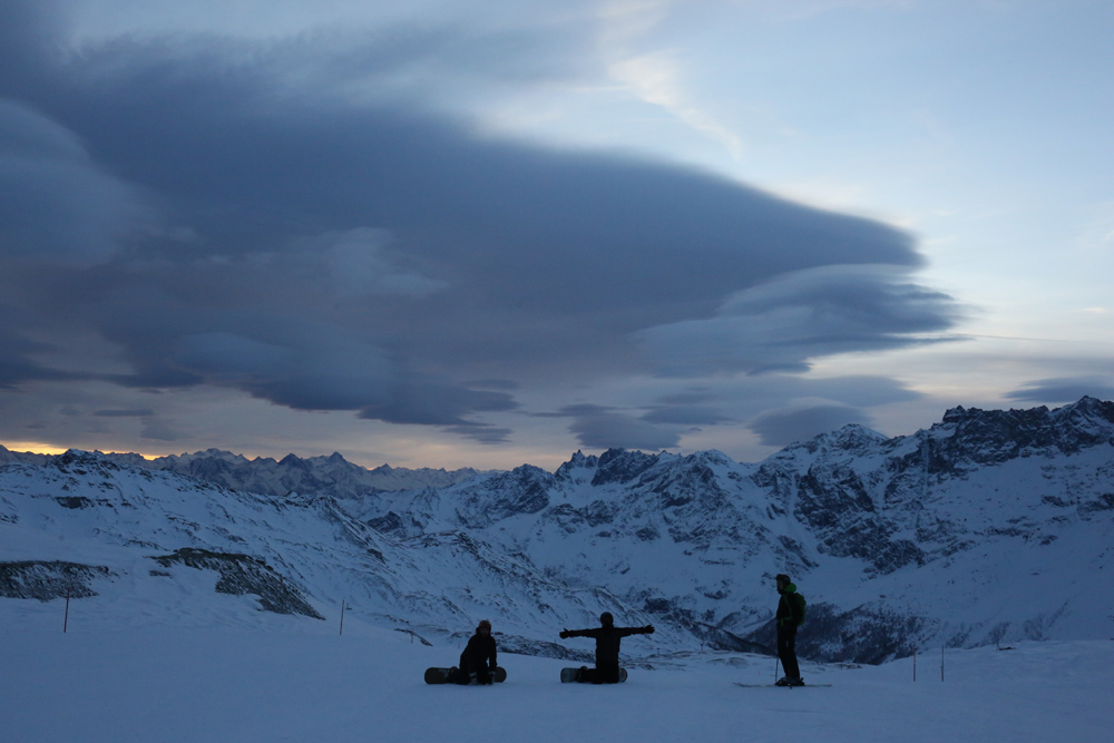 Snowboard Ausfahrt